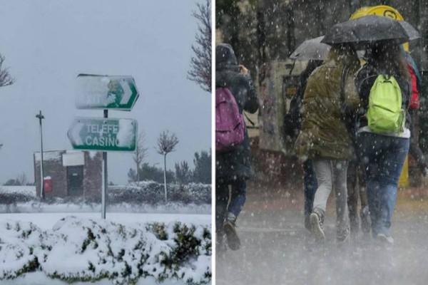 Καιρός ΕΜΥ: Έκτακτο δελτίο με καταιγίδες και χιόνια!