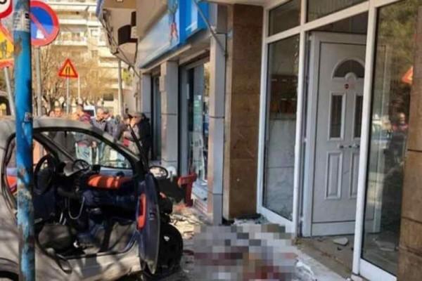 Ακαδημία Πλάτωνος: Αυτοκίνητο έπεσε σε πολυκατοικία-Σοβαρό τροχαίο!