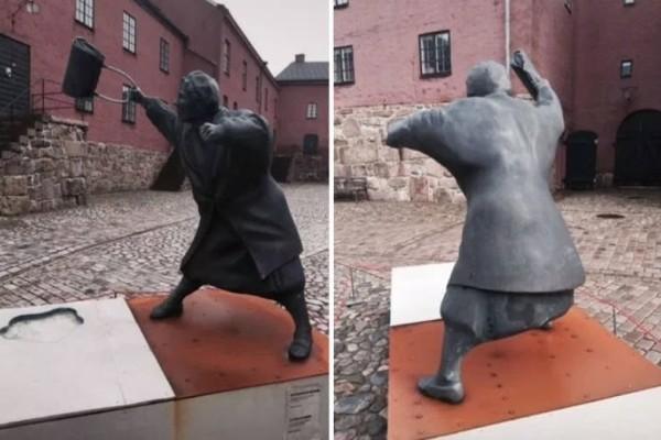 Η φωτογραφία με το ισχυρό πολιτικό μήνυμα μετατράπηκε σε άγαλμα!