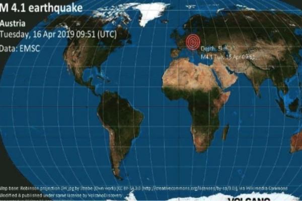 Σεισμός: 4,1 Ρίχτερ στην Αυστρία!