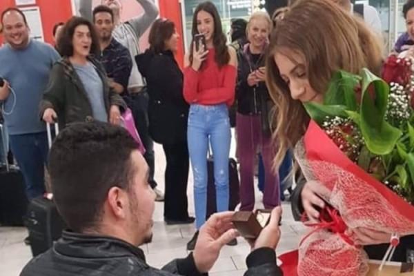 Απίστευτη πρόταση γάμου στο αεροδρόμιο της Λάρνακας! (Βίντεο)