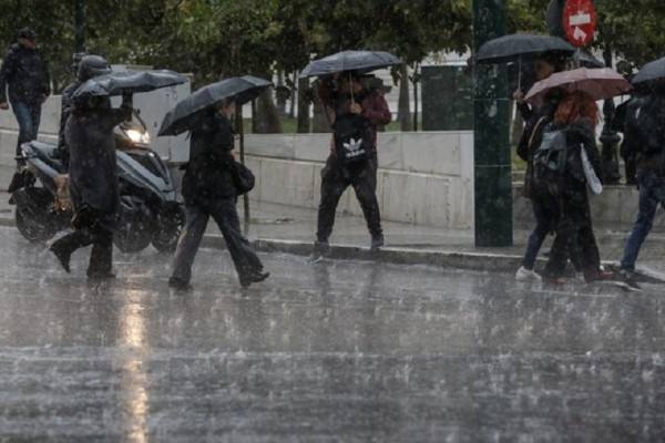 Νέο κύμα κακοκαιρίας πλήττει τη χώρα με βροχές, καταιγίδες και πτώση της θερμοκρασίας!