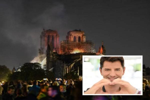 Σάκης Ρουβάς: Τι σχέση έχει ο τραγουδιστής με την καταστροφή στην Παναγιά των Παρισίων!