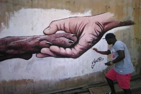 Το εντυπωσιακό και συνάμα συγκινητικό γκράφιτι στο Πέραμα!