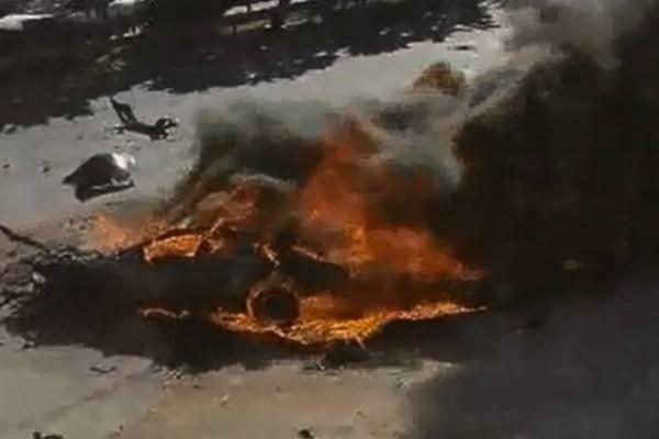 Κάηκε ζωντανός άνθρωπος, μέσα στο ΙΧ του, στην Εθνική Οδό!