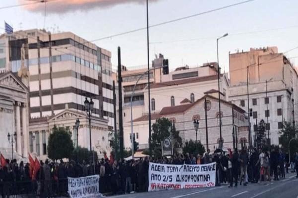 Χαμός στο κέντρο της Αθήνας! Κλειστή η Πανεπιστημίου!