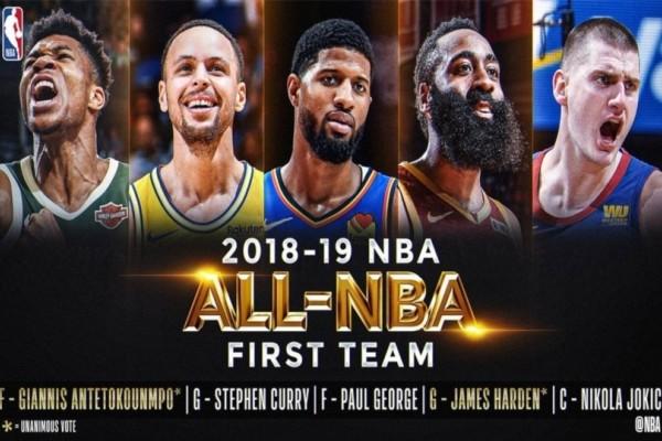 Γιάννης Αντετοκούνμπο: Στην κορυφαία πεντάδα του NBA!