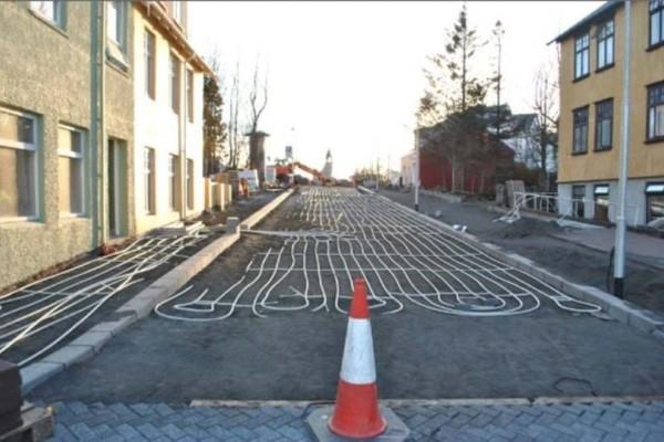 Νορβηγία μια χώρα που έχει ενδοδαπέδια  θέρμανση στους δρόμους της!