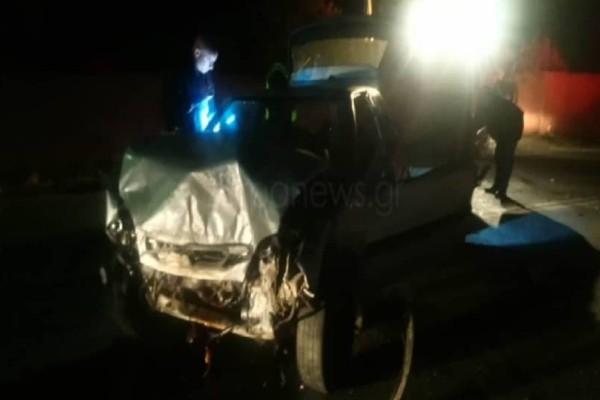 Χανιά: Tροχαίο ατύχημα με έναν εγκλωβισμένο!
