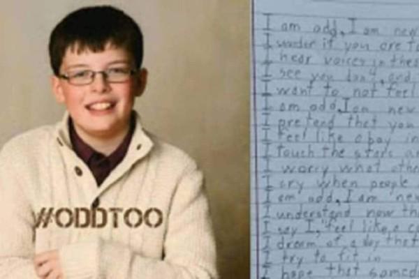 10χρονος με αυτισμό γράφει το πιο συγκινητικό ποίημα για το τι πραγματικά βιώνει...
