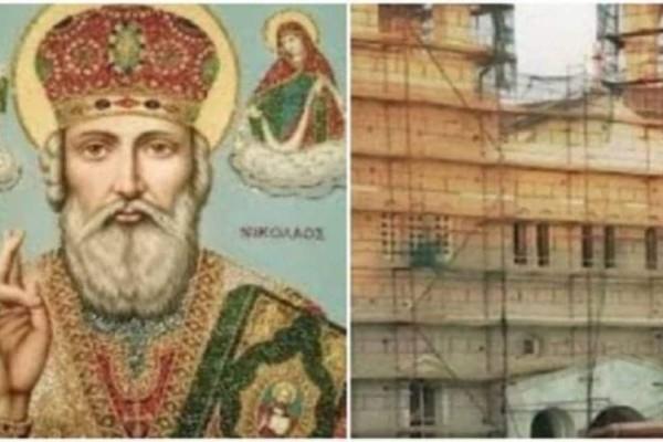 Εργάτης έπεσε από 12 μέτρα ύψος καθώς εργαζόταν για την επισκευή του ναού του Αγίου Νικολάου και σώθηκε!