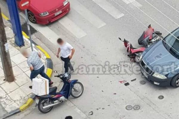 Λαμία: Οδηγός χτύπησε ντελιβερά και εξαφανίστηκε!