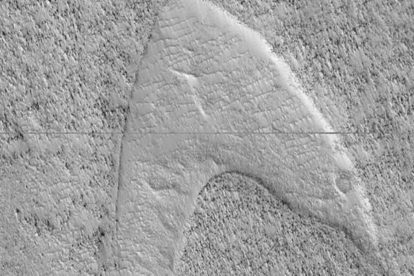 NASA: Βρήκε σύμβολο του στόλου του «Σταρ Τρεκ» στην «Ελλάδα» του Άρη!