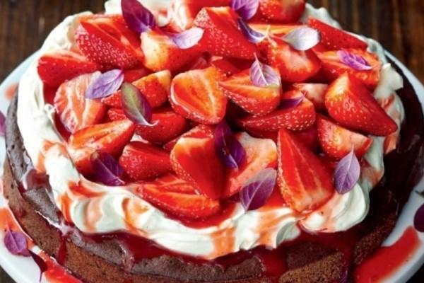Κέικ Nutella με φράουλες!