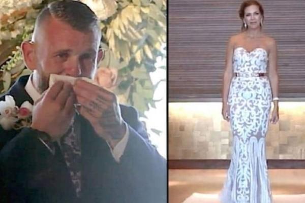 Ο γαμπρός δεν κατάλαβε γιατί η νύφη στάθηκε ακίνητη. Μόλις όμως την είδε να σηκώνει το χέρι της, έμεινε άναυδος.