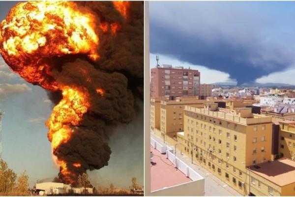 Πανικός στην Ισπανία: Φωτιά σε εργοστάσιο χημικών! Ανησυχούν οι αρχές!