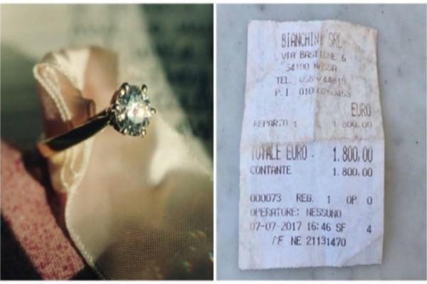 Βρήκε την απόδειξη από το δαχτυλίδι αρραβώνων και έγινε έξαλλη με τον σύντροφο της...Τελικά πήρε αυτό που της άξιζε!