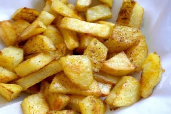 Εύκολες πατάτες φούρνου σαν τηγανητές!
