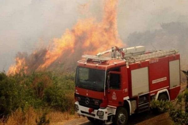 Ισχυρή πυρκαγιά στη Μάνη!