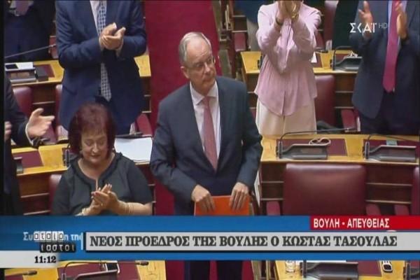 Κώστας Τασούλας: Ο νέος πρόεδρος της Βουλής με ρεκόρ ψήφων! (Video)