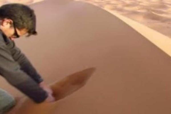 Μοιάζει με συνηθισμένη άμμο... Όταν όμως ξεκινάει να σκάβει συμβαίνει κάτι μοναδικό!(Video)