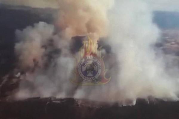 Φωτιά στην Τανάγρα: Απομακρύνθηκαν άνθρωποι από μοναστήρι!