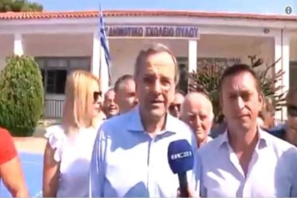 Ψήφισε ο Αντώνης Σαμαράς: «Θα ξαναχτίσουμε την Ελλάδα από αύριο»!