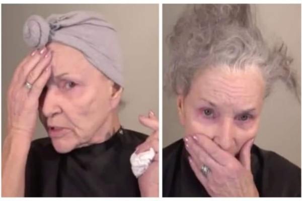 Γυναίκα 78 ετών βάφεται μόνη της με μακιγιάζ και όταν τελειώνει δεν την αναγνωρίζουμε! (Video)