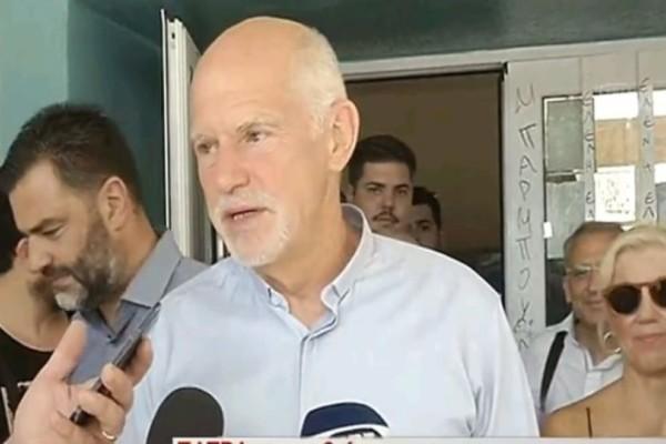 Ψήφισε ο Γιώργος Παπανδρέου: «Πολύ σημαντική ψήφος, είναι ψήφος αλλαγής»
