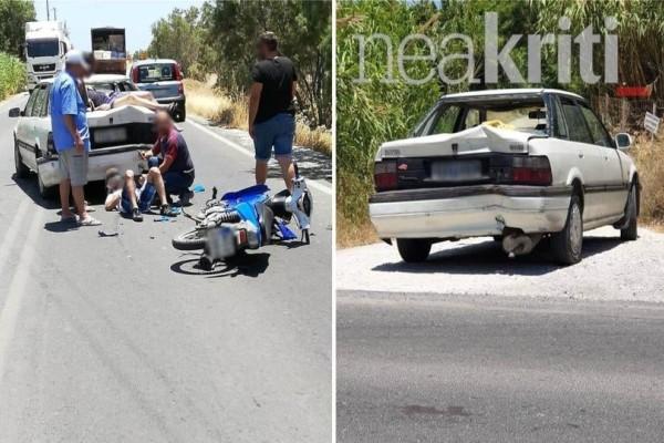 Σοκ στην Ιεράπετρα: Δύο νεαροί εκσφενδονίστηκαν από μηχανή ύστερα από τροχαίο με ΙΧ!