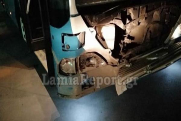 Σοκ στη Λαμία: Λεωφορείο τράκαρε με... αγριογούρουνo!