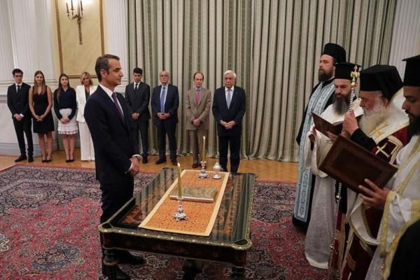 Ορκίστηκε ο πρωθυπουργός της χώρας Κυριάκος Μητσοτάκης! (Video)