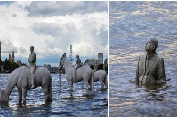 Απίστευτο: Εντυπωσιακά αγάλματα είναι ορατά μόνο για δυο ώρες!