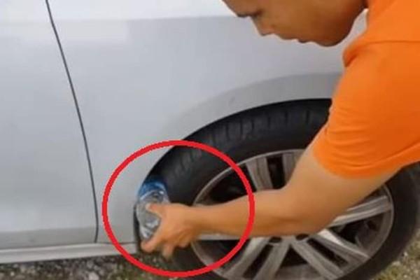Προσοχή: Αν δείτε μπουκάλι στη ρόδα αυτοκινήτου πηγαίντε στην αστυνομία!