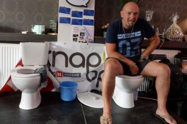 Βέλγος κάθισε σε λεκάνη τουαλέτας για… πέντε ημέρες! (video)