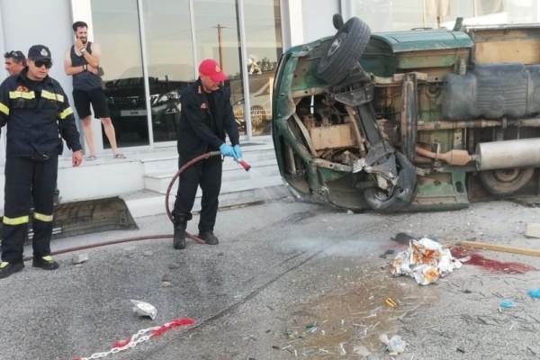 Τροχαίο σοκ στο Άργος: Οδηγός καταπλακώθηκε από το φορτηγάκι του και πέθανε!