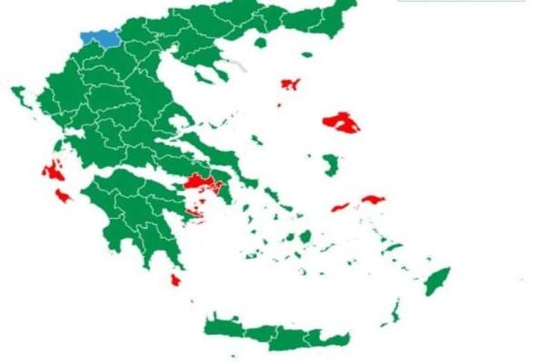 Πώς θα ήταν ο χάρτης της Ελλάδας χωρίς Νέα Δημοκρατία και ΣΥΡΙΖΑ;