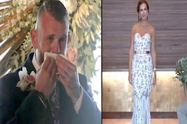 Ο γαμπρός δεν κατάλαβε γιατί η νύφη στάθηκε ακίνητη! Μόλις την είδε να σηκώνει το χέρι της, ξέσπασε! (Video)