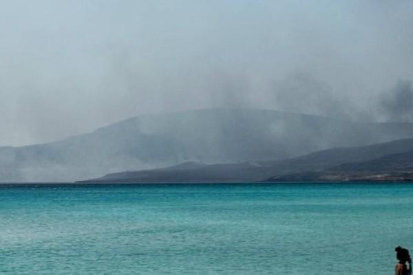 Φωτιά στην Ελαφόνησο: Τρέχει προς τη θάλασσα ο κόσμος!