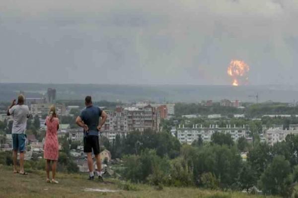 Εκρήξεις σε σε αποθήκες πυρομαχικών της Ρωσίας - 5 άνθρωποι τραυματίστηκαν!