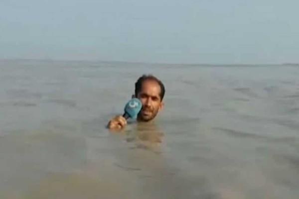 Μυθικό ρεπορτάζ: Δημοσιογράφος βούτηξε στο ποτάμι! (Video)