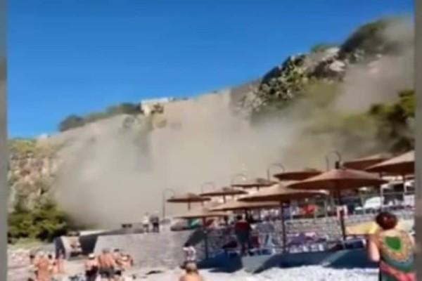 Ναύπλιο: Βίντεο ντοκουμέντο από τη στιγμή που σημειώνεται μεγάλη κατολίσθηση σε παραλία!