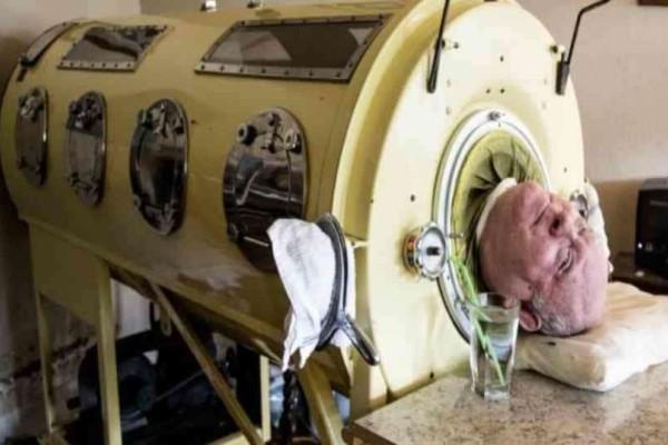 Τα τελευταία 65 χρόνια ζει «φυλακισμένος» σε αυτό το μηχάνημα και είναι ο μόνος τρόπος να επιβιώσει!