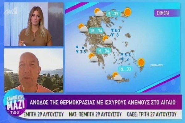 Τάσος Αρνιακός:  Άνοδος της θερμοκρασίας με ισχυρούς ανέμους! (Video)