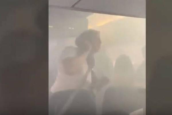 Πανικός σε πτήση: Η καμπίνα του αεροπλάνου γέμισε καπνό! (Video)