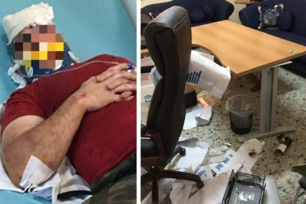 Ληστεία-θρίλερ στη Θεσσαλονίκη: Ξυλοκόπησαν τον φύλακα και τα έκαναν «γυαλιά-καρφιά»! (photos)