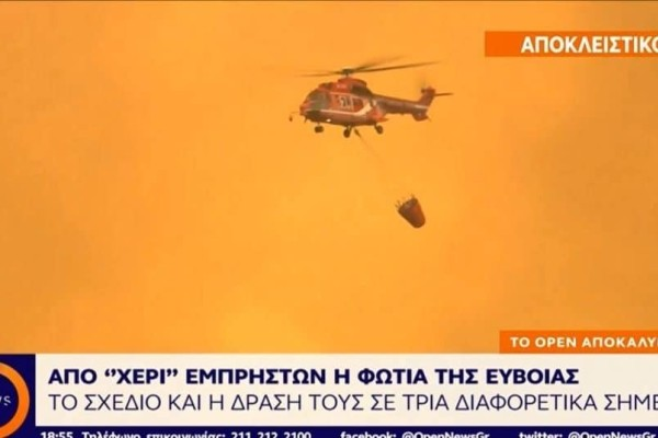 Τελικά η πυρκαγιά στην Εύβοια ήταν ενέργεια εμπρηστών; (Video)