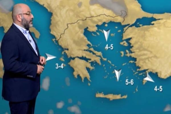 Σάκης Αρναούτογλου: Καλοκαιρινός ο καιρός! Η θερμοκρασία θα φτάσει μέχρι και τους 32 βαθμούς! (Video)