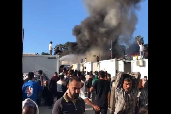 Χάος στη Μόρια! Πληροφορίες για έναν νεκρό! Εξέγερση των προσφύγων! (Video)