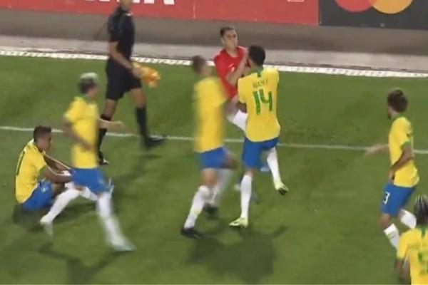 Άγριο ξύλο σε ματς Βραζιλίας-Χιλής! (Video)